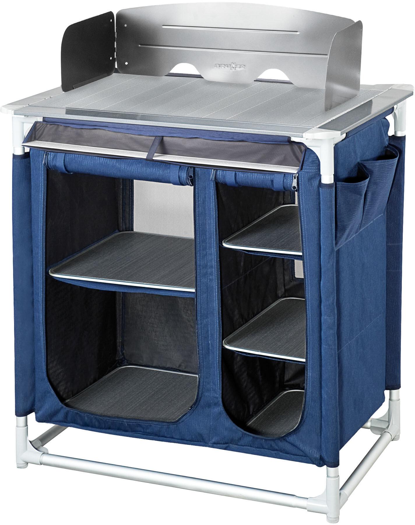 Brunner Mercury CT Mobile per cucina da campeggio, tree bark/blue